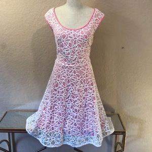 London Times Pink Lace Dress